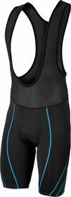 MIMO TITAN - Spodenki rowerowe na szelkach, wkładka QDRY, kolor: Czarno-niebiesk