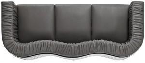 D2 Sofa Balza 3-osobowe czarna skóra 65516