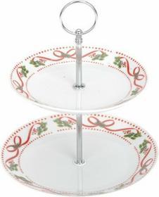 Excellent Houseware EH Ceramiczna Patera CHRISTMAS - 2 poziomy na ciasta, torty,