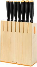 Fiskars Zestaw 7 Zestaw noży w bloku drewno 1014225