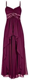 Bonprix długa sukienka jeżynowy 957698