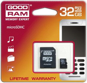 Goodram Micro SDHC Class 4 (+ adapter) 32GB