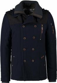 Dreimaster Płaszcz wełniany /Płaszcz klasyczny niebieski 4DR22H02C-K11