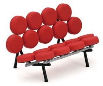 D2 Sofa Candy czerwona skóra 2200000008299 Candy