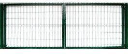 Polbram Brama ogrodzeniowa 3D zielona ocynkowna 152x400 cm