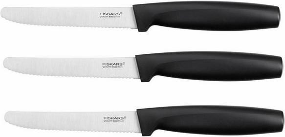 Fiskars Zestaw noży ząbkowanych 3 czarny 1014279