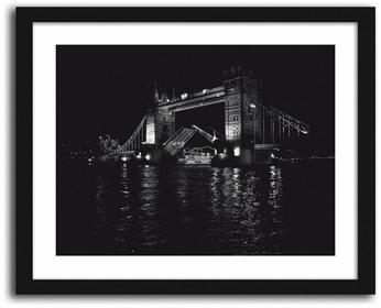 Feeby Tower Bridge, Obrazy w ramie - Czarny