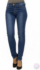 BS Spodnie jeansy rurki z wyższym stanem niebieski