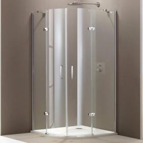Huppe Elegance Huppe 90x90 profil srebrny matowy szkło przezroczysty Antiplaque