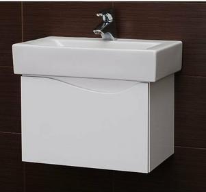 Deftrans MURCIA D50 Szafka pod umywalkę podwieszana, biały, 144-D-05001