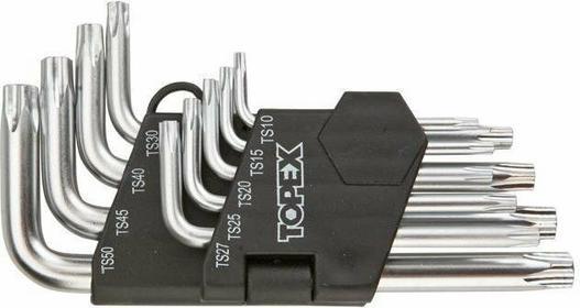 Topex Klucze pięciokątne, komplet 9 sztuk 35D950