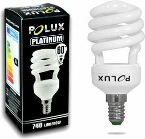 Polux świetlówka energooszczędna Platinum 12W E14 2700K SE1690