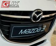 MAZDA CRONI 3 III SEDAN od 2013 Nakładki na grill stal połysk MA02G