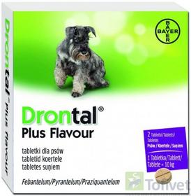 Bayer DRONTAL Plus Flavour Tabletki dla psa na robaki 2tabl.