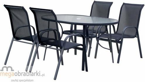 Hecht Zestaw mebli ogrodowych stół + 4 krzeseł Ekonomy Set Ekonomy Set 4