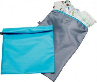 Childrress J.L.Childress Worki na pieluchy, ubranka 2 szt. niebieski i szary 116