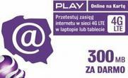 Play 5 zł 300MB za darmo