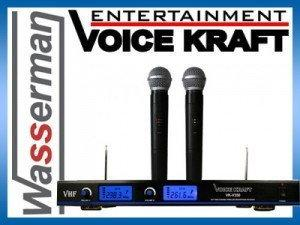 Voice Kraft Profesjonalny zestaw mikrofonów bezprzewodowych VK-V350