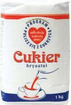 Cukier biały sypki 1kg.