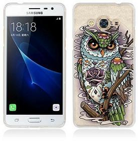Samsung Galaxy J3 Pro Hülle, Galaxy J3 Pro Hülle, Gift_Source [ Eule ] Schutz-Hülle Silikon TPU transparent ultra-slim Case Cover ultra-thin durchsichtig für Galaxy J3 Pro J3110 J311