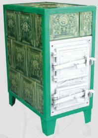 Polska 922 92238178 Piec grzewczy kaflowy 7,8kW Retro trzywarstwowy (kolor: ziel