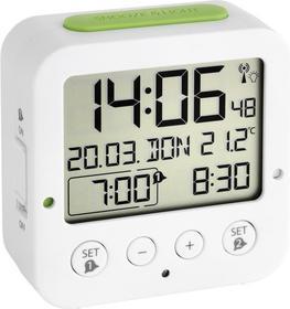TFA Zegar Sterowany radiowo 60.2528.02 Biały Zielony (DxS) 81 33 mm mm x 81 mm