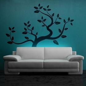 Wally piękno dekoracji drzewo 0772 - naklejka ścienna, szablon malarski