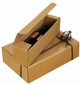 Brązowe Pudełko ozdobne z mikrofali na 1 butelkę 3001BN