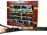 Fenfa Lean Toys Kolejka gigant 7 wagonów światło ok 10m