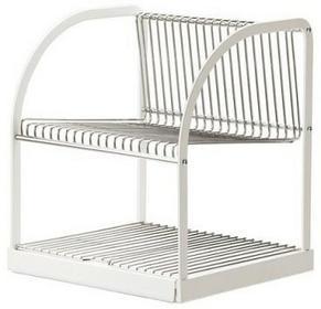 IKEA Suszarka do naczyń, srebrnna, biała 32x29x36 cm 902.339.67