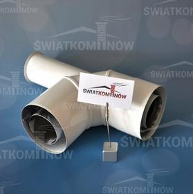 Spiroflex Kolano dwuścienne 90° z podstawką białe SX-TD110/150K90PB