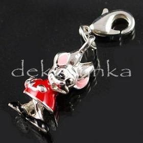 Zawieszka charm02 (charms) metalowa z emalią MYSZKA MINNIE - czerwona 7b8910e393