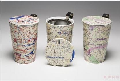 Kare Design Design & the City Kubek do parzenia herbaty, City Guide 34225