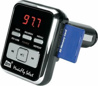 DNT Transmiter/nadajnik FM MusicFly Select czytnik SD MP3/WMA pamięć 7 częstotli