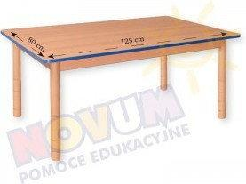 Novum Stół prostokątny z dokrętkami prostymi
