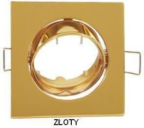 Superled Oprawa Oprawa LED halogenowa ruchoma kwadratowa kolor złoty OHK15 7021