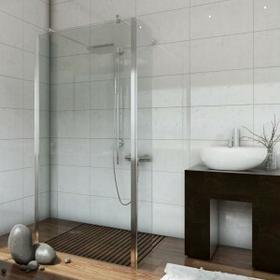 Sea Horse Easy In 100x200 profil chrom szkło transparentne z powłoką CleanGLASS BK254T10+