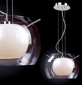 Italux DESIGNERSKA szklana LAMPA wisząca OPRAWA Zwis do salonu KOMA MD5807-1A OP