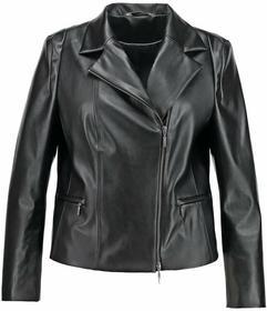 CHC Fashion Kurtka skórzana czarny 50016