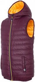 4F [T4Z16-JKUM202] Kamizelka puchowa chłopięca JKUM202 bordowy [T4Z16-JKUM202] Boys synthetic down vest JKUM202 claret