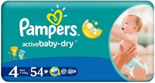 Pampers Active Baby 4 Maxi 54 szt.