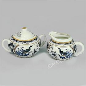 cukiernica i mlecznik - porcelana japońska Pawie (FIL270K)