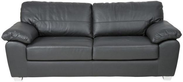 Sofa Lorain 211 cm, czarny, skóra ekologiczna-Actona Company (0000059915)
