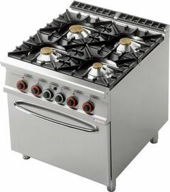 Lotus Kuchnia gazowa z piekarnikiem gazowym GN 2/1 CF4 - 98 G 00001080
