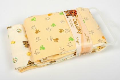 T-tomi Bawełniany Ręcznik , beżowy, 2 sztuki