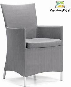 Fotel ogrodowy z podokietnikami COMO 48x60x91 cm. COMO-FOT.TX-SZARY