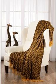 Dekoria Pled Easy zebra żółto-brązowy