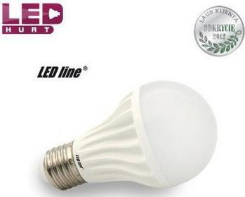 LED Line Żarówka LED E27 10W LL 20SMD2835 kula biała ciepła CCD 242656