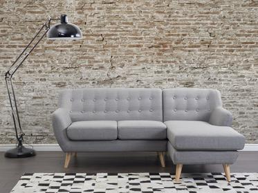 Beliani Sofa jasnoszara - Kanapa - tapicerowana - naroznik - MOTALA jasny szary