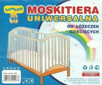 Topgal Bambino Moskitiera Uniwersalna Do Łóżeczka 0033